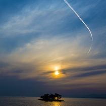 【宍道湖の夕陽イメージ】