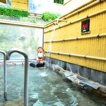 姫の湯に併設されている健康露天風呂。