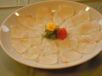クエ薄造りイメージ写真(別注料理)※冬季限定