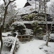 ☆茶室-雪景色