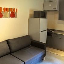 コテージ1ルームタイプのキッチン