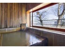 ◆エグゼクティブ【欅(けやき)・ 415号室】、【大樹(たいじゅ) ・315号室】、露天風呂(冬)