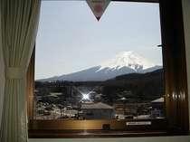 お部屋から富士山が望めます