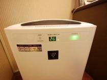 加湿機能付空気清浄機を完備しております