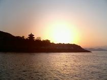 弁天から朝陽