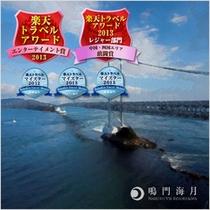 鳴門を大橋 楽天トラベルアワード 敢闘賞 エンターテイメント賞 ダブル受賞