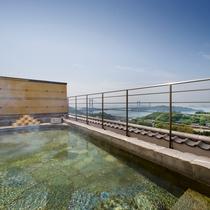 屋上露天風呂「天女」|海抜110mからの絶景