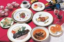 フルコースのディナー