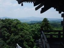 清水寺の三重塔からの眺め