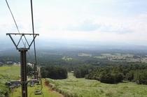 夏の大山リフト