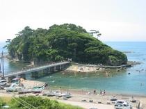 恵比須島全景海水浴③