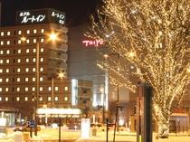 駅前イルミのホテル