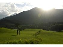 【十勝千年の森】夕陽のアースガーデン