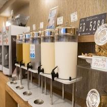 ◆豆乳・オレンジジュースなどソフトドリンクも充実◆