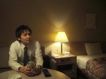 お部屋に入ってほっとひといき♪発泡酒&payテレビカード付きメンズプラン