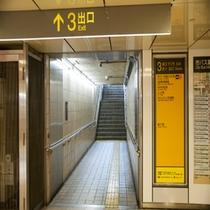 周辺 地下鉄東山線栄3番出口