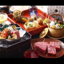 神戸牛ステーキ会席一例
