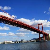 *「若戸大橋」 全長2100m 福岡県北九州市の洞海湾にかかる戸畑区と若松区を結ぶ橋