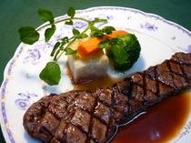 サーロイン網焼きステーキ