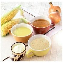 3種類のあたたかスープ