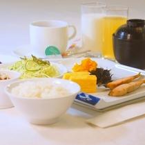 朝食(和食)盛り付け例