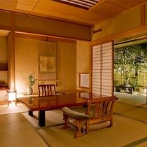 露天風呂付◆貴賓室 曲水亭-桐壷-◆和室(10帖)と洋室(8.16帖)の、和洋室タイプのお部屋です。