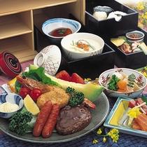 幼児用のお食事◆お子様ランチ風のお重は、ハンバーグやエビフライ・和牛の塩焼きなど、お子様も大満足♪