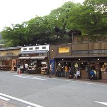 【月光園から徒歩4分】太閤通◆お土産や炭酸せんべいのお店が立ち並ぶ、有馬のメインストリート。