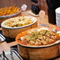 【健康無料朝食】ぷりぷりの鶏の煮込み