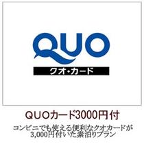 QUOカード3,000円付