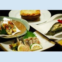 鮎料理グレードUP(魚コース)一例