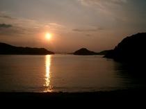 島の夕日2