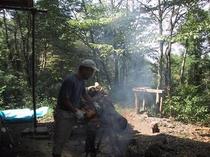 薪割り体験