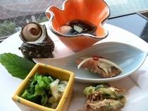 前菜五種盛り(丸皿)