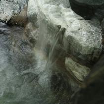 露天風呂の源泉