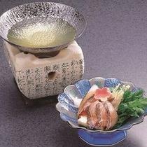 チョイス料理:【天然鯛のしゃぶしゃぶ】 ※イメージ