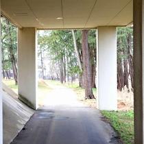 2.まるでトンネル?海までの近道はこちらです