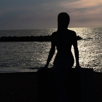 【鵜の浜海岸】恋人の聖地/人魚のブロンズ像と夕日