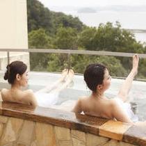 三河湾を見渡す展望露天風呂