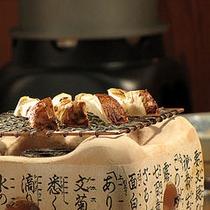 当日オプションの網焼き松茸