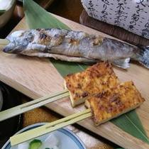 幻の魚イワナと名産山根の岩豆腐