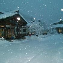 雪の新山根温泉