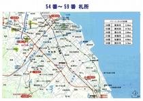 54~59番札所地図