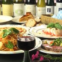 イタリアン夕食♪オーナーのオススメワインもどうぞ!