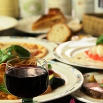 イタリアン夕食♪美味しいお酒をどうぞ!