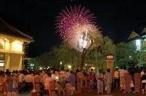 城崎温泉と夢花火