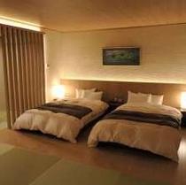和洋室「笹船」 ベッド