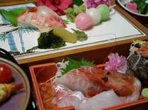 4,5月限定の桜鯛会席、桜色の鯛