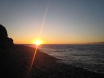外海からの夕日
