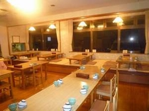 1F 食堂(窓の外は大阪湾、紀淡海峡です)
